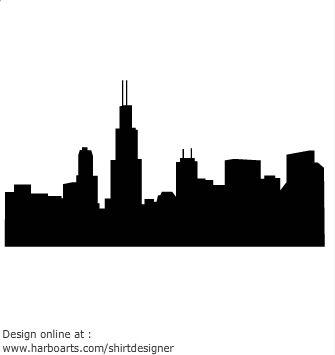 335x355 Chicago Skyline Silhouette Y