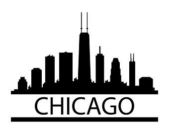 340x270 Chicago Skyline Svg Etsy