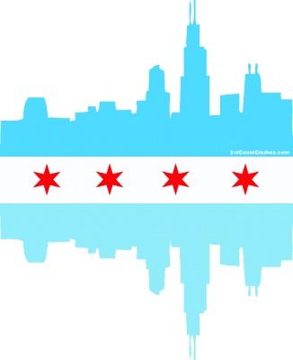 326x400 City Of Chicago Flag Clip Art