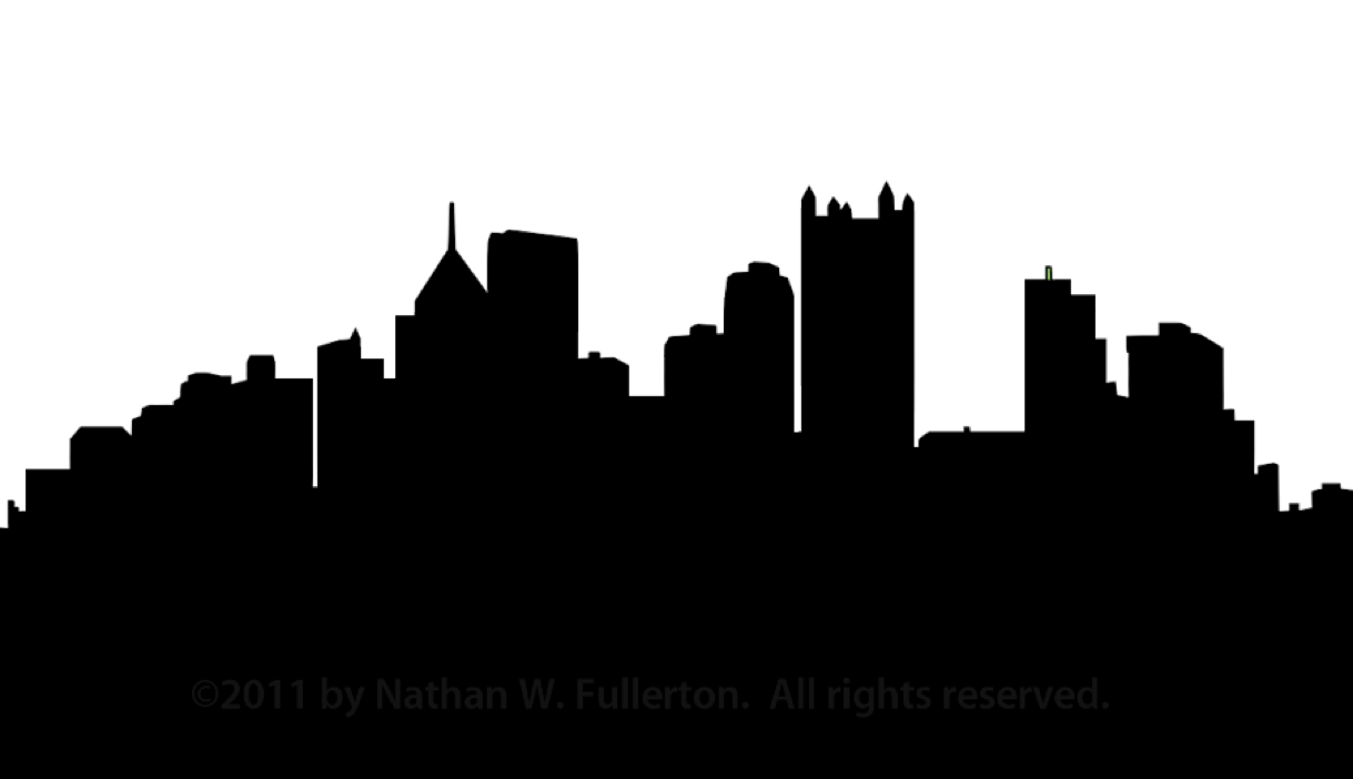 1219x702 Pittsburgh Skyline Silhouette Dpi Free Images