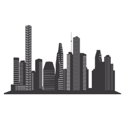 256x256 Chicago Skyline Silhouette