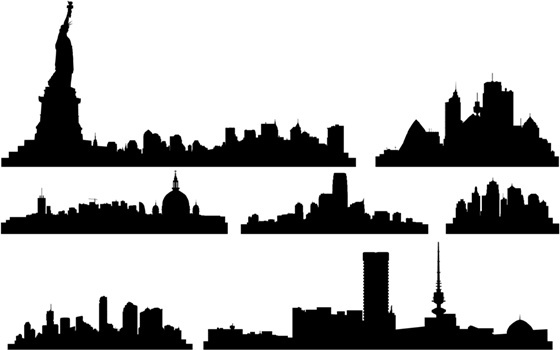 560x350 Doha Skyline Free Vector Download (110 Free Vector) For Commercial
