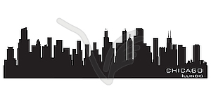 300x150 Free Chicago Skyline Silhouette Clipart