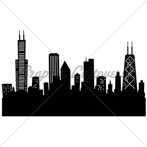 500x500 Cartoon Chicago Gl Stock Images