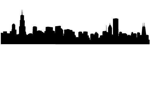 500x326 Chicago Skyline Silhouette Wallpaper