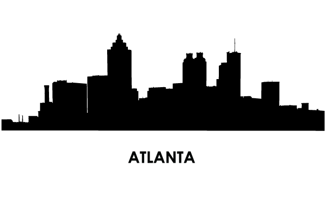 645x395 City Clipart Atlanta Skyline