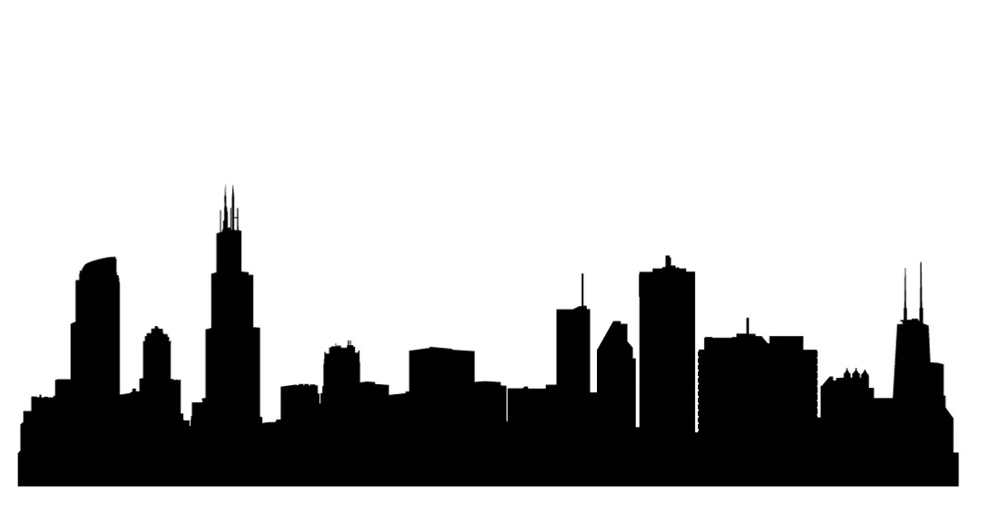 chicago skyline silhouette wallpaper at getdrawings com free for