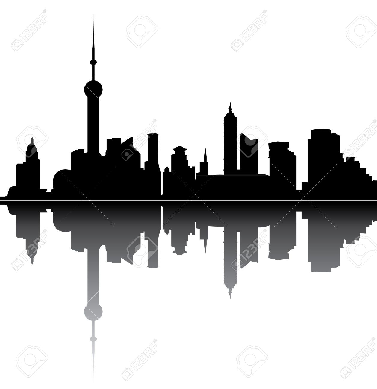 1259x1300 Skyline Clipart Building