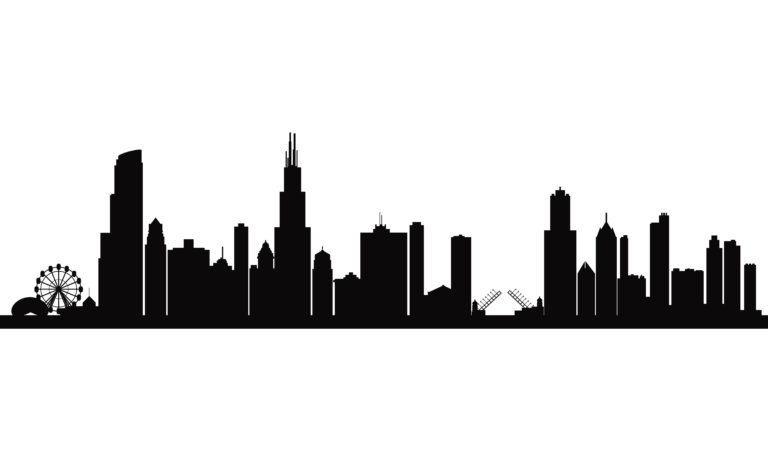 768x461 Chicago Skyline Drawing