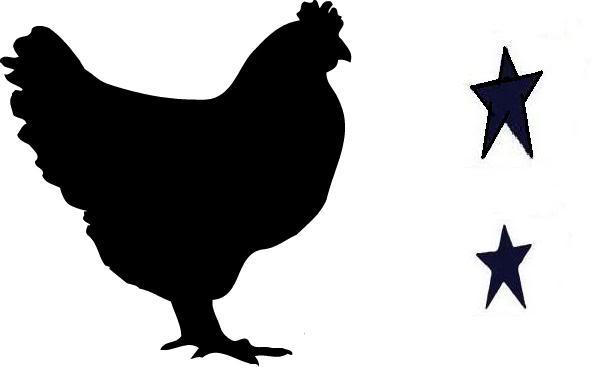 606x383 Chicken Clipart Stencil