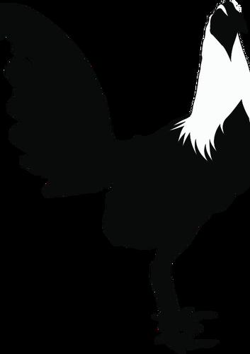 353x500 Rooster Silhouette Public Domain Vectors