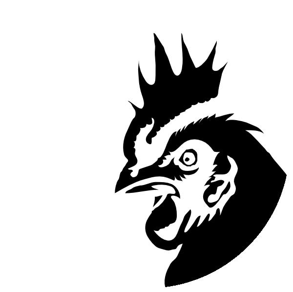 600x598 Chicken Profile Black Silhouette Clip Art