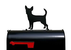 300x214 Chihuahua Silhouette Mailbox Topper Sign
