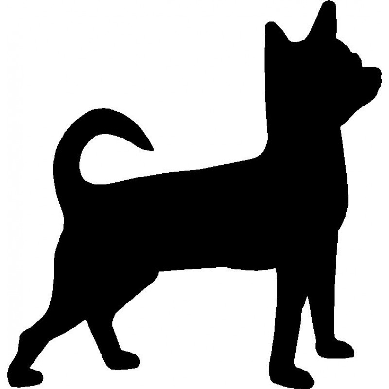 800x800 Dog Breed Silhouette Wall Hanging Magnetic Memo Chihuahua