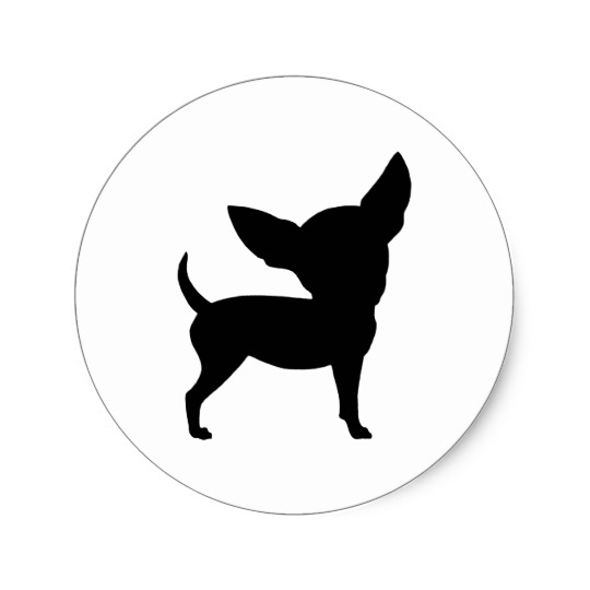 540x540 Funny Chihuahua Classic Round Sticker