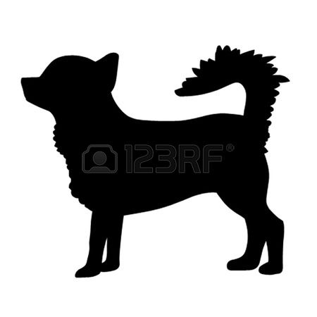 450x450 Long Haired Chihuahua Clipart