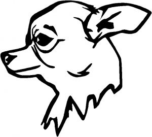 300x270 Outline Of Chihuahua To Draw Go Back Gt Pics For Gt Mean Wolf Head