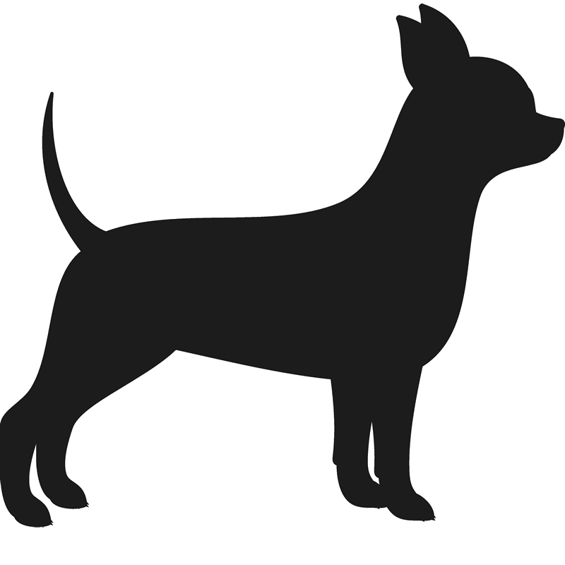 800x800 Chihuahua Stamp (Silhouette) Dog, Cat Amp Fur Baby Stamps Stamptopia