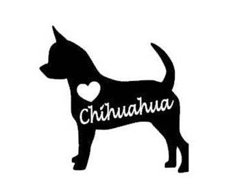 340x270 Handmade Chihuahua Silhouette Etsy