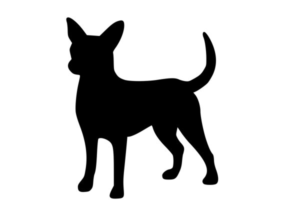 570x428 Chihuahua Dog Outdoor Vinyl Silhouette K9 Breed Adhesive