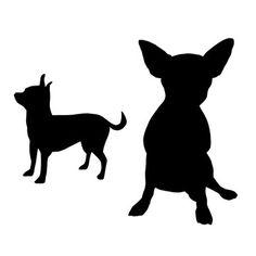 236x236 Chihuahua Silhouette Machine Embroidery Design Dog Design