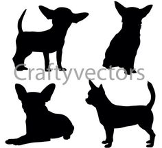 236x216 43730614 Chihuahua Small Dog Vector Icons And Silhouettes Set