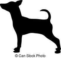 206x194 Silhouette A Chihuahua.vector Illustration. Silhouette