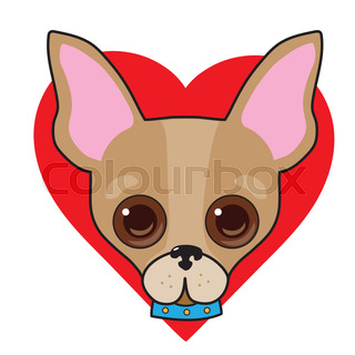 320x320 The Head Of Chihuahua Dog. Dog Vector Illustration. Stock Vector