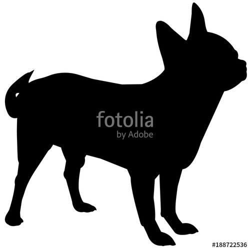 500x500 Chihuahua Dog Silhouette Vector Graphics Stock Image And Royalty