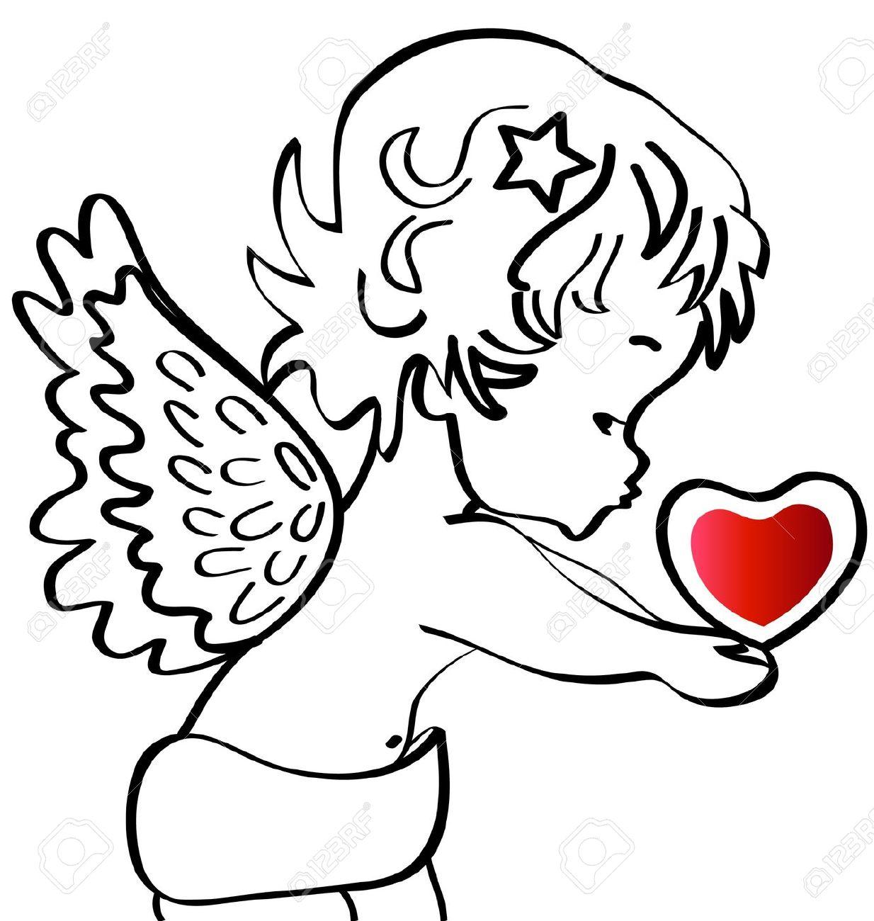 1234x1300 Drawn Toon Angel Baby