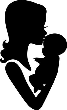 236x382 Mother And Baby Clipart Silhouette