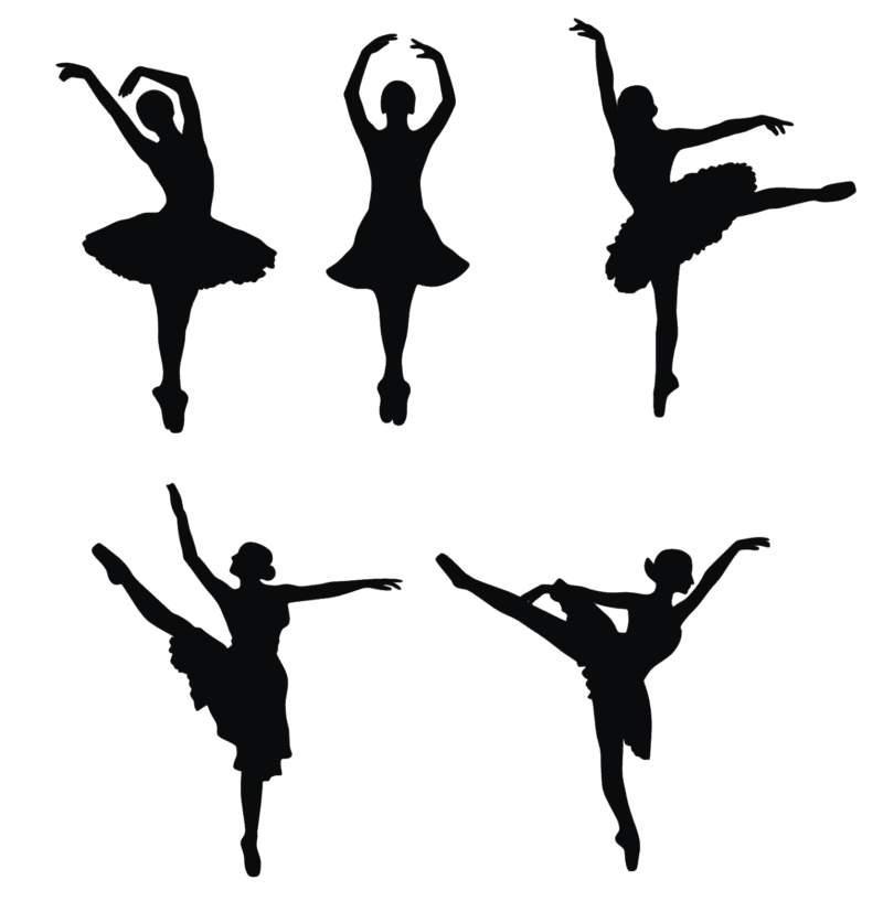 800x817 Little Ballerina Silhouette Clip Art