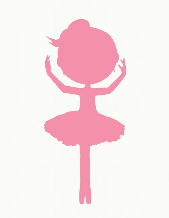 570x737 Baby Ballerina Silhouette