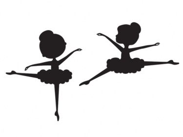 Child Ballerina Silhouette Clip Art