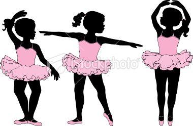 380x249 Little Girl Ballet Dancers In Silhouette Ballerina Silhouette