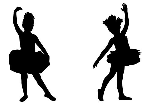 500x350 Pictures Baby Ballerina Silhouette,