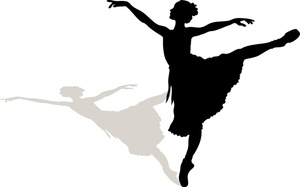 300x187 Ballet Dancer Clipart Silhouette Clipart Panda