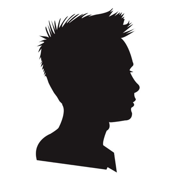 Child Face Silhouette