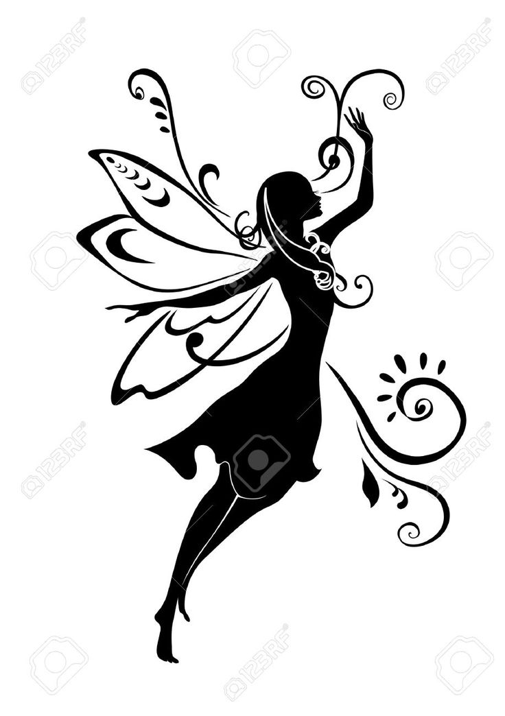 Child Fairy Silhouette