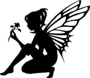 300x260 Photos Neverland Fairy Silhouette Cut Out Black,
