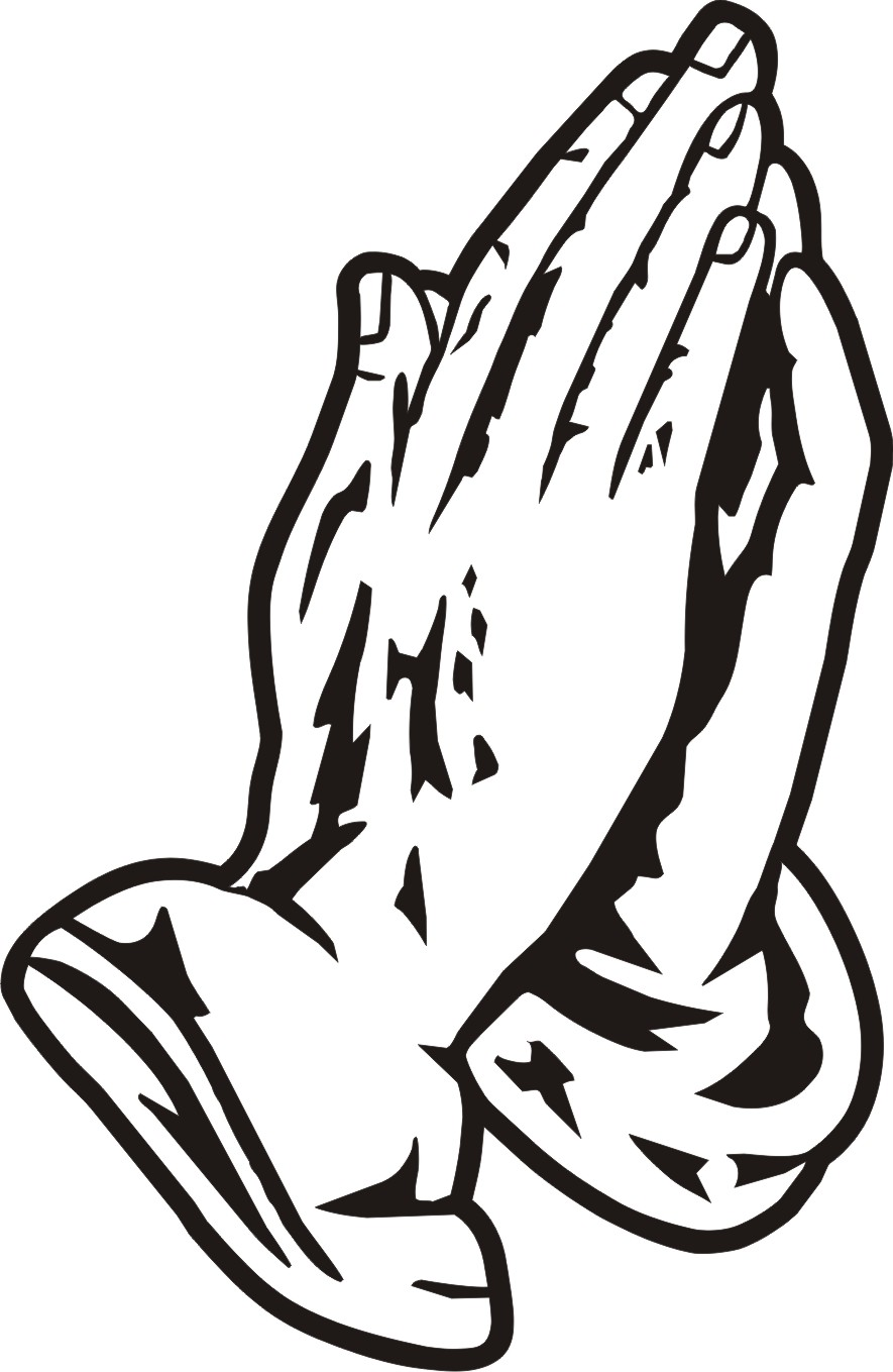 885x1359 Free Clipart Praying Hands Silhouette