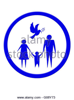 300x406 Illustration Of Family Of Three Persons Father, Mother And Child