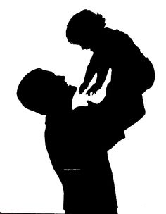236x304 Silhouette Of A Father Holding His Child Art