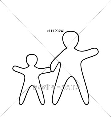361x380 Stock Photo Silhouette Of Parent And Children
