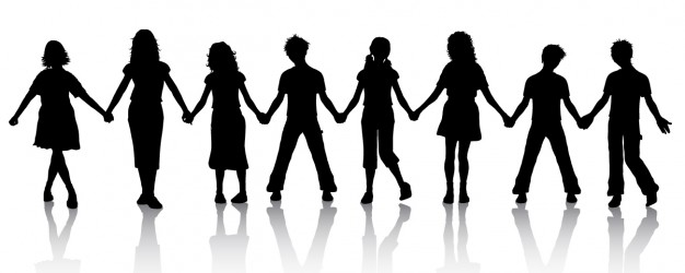 626x250 Children Holding Hands Silhouette Vector Free Download