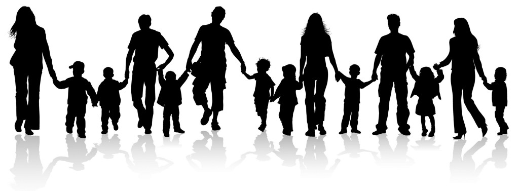 Image result for silhouettes of families