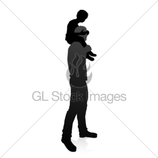 325x325 Father And Child Family Silhouette Gl Stock Images