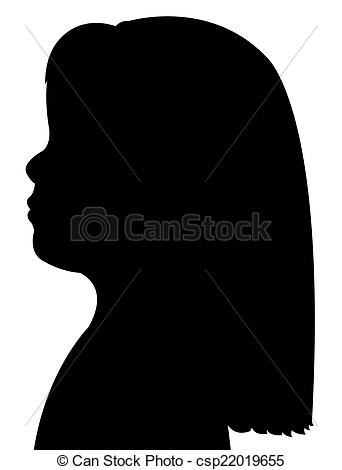 342x470 A Child Head Silhouette Stock Images
