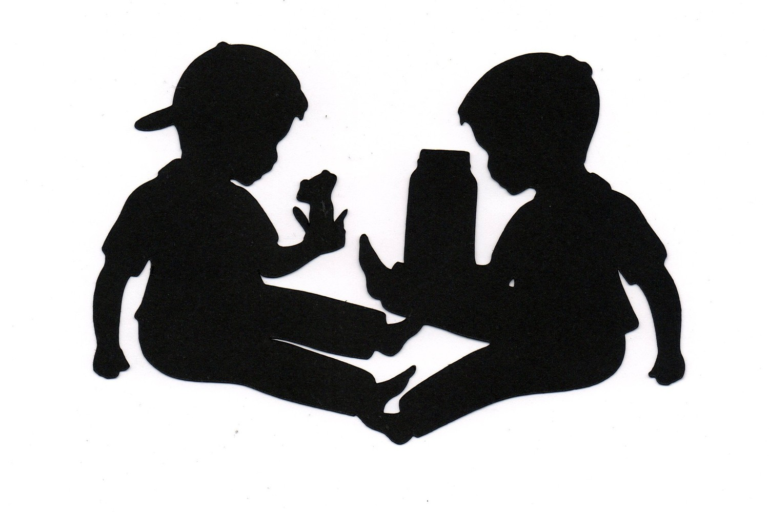 Child Playing Silhouette At Getdrawings Com Free For Personal Use