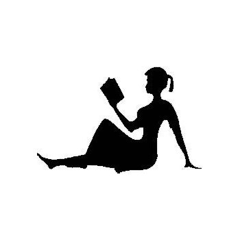 Child Reading Book Silhouette